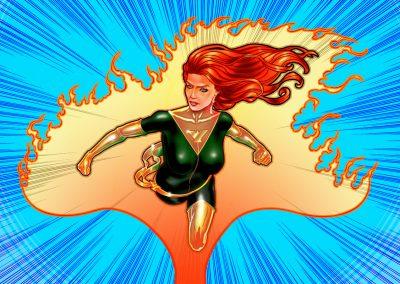 Illustration comics - Phoenix