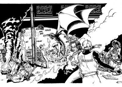 Illustration comics - Bataille 1