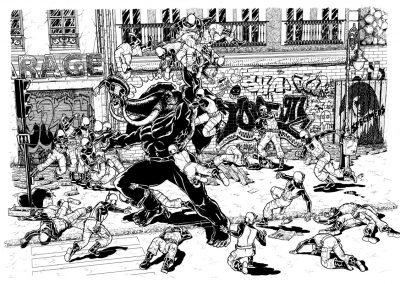 Illustration comics - Bataille 2