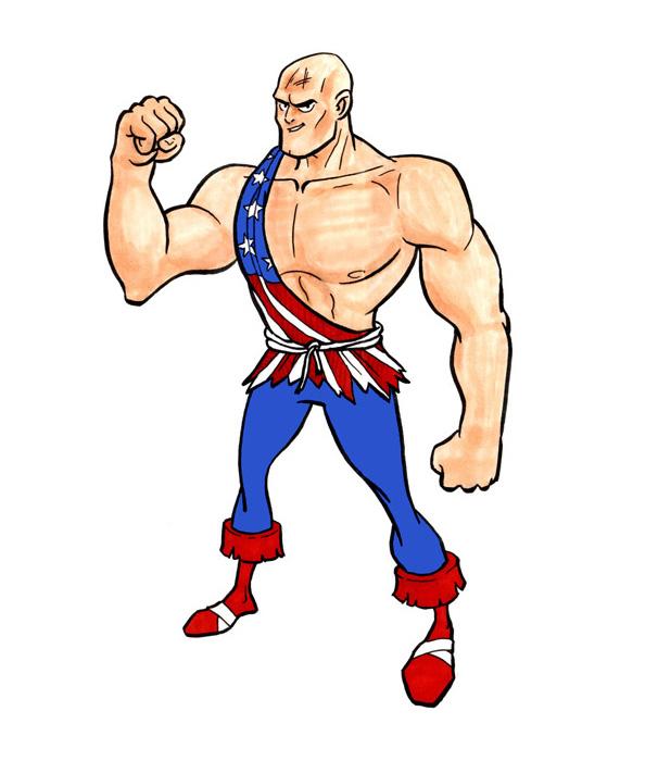 Dessin personnage Cartoon - Super héros