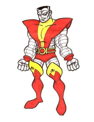 Dessin personnage Cartoon - Colossus