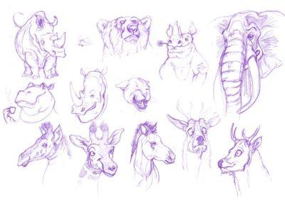 Etude de personnage Cartoon - Character design