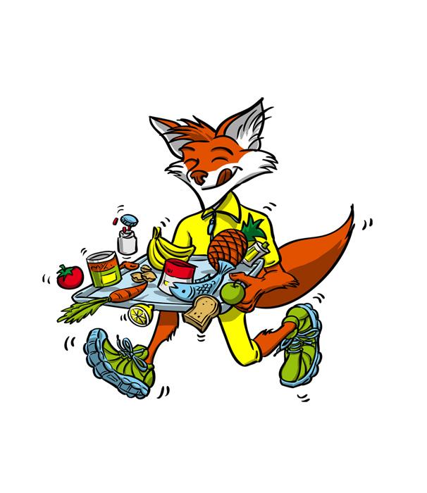 Dessin personnage Cartoon - Running & nutrition