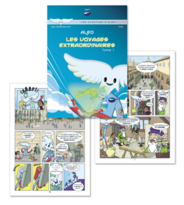 3 pages de la bande dessinée d'Aleo